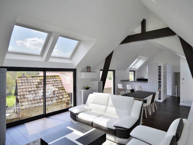 Une grange alsacienne transformée en habitation contemporaine