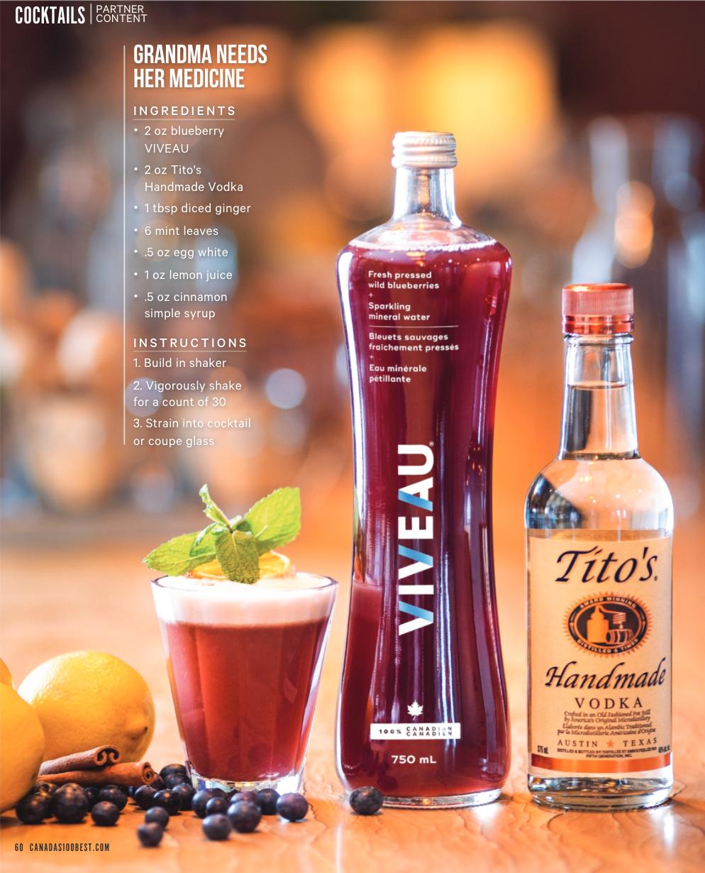 Canada S 100 Best X Titos Handmade Vodka X Viveau In 2021 Vodka Flavored Sparkling Water Sparkling Mineral Water