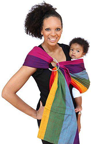 Maya Wrap Lightly Padded Ring Sling Baby Carrier Dorothy Medium For