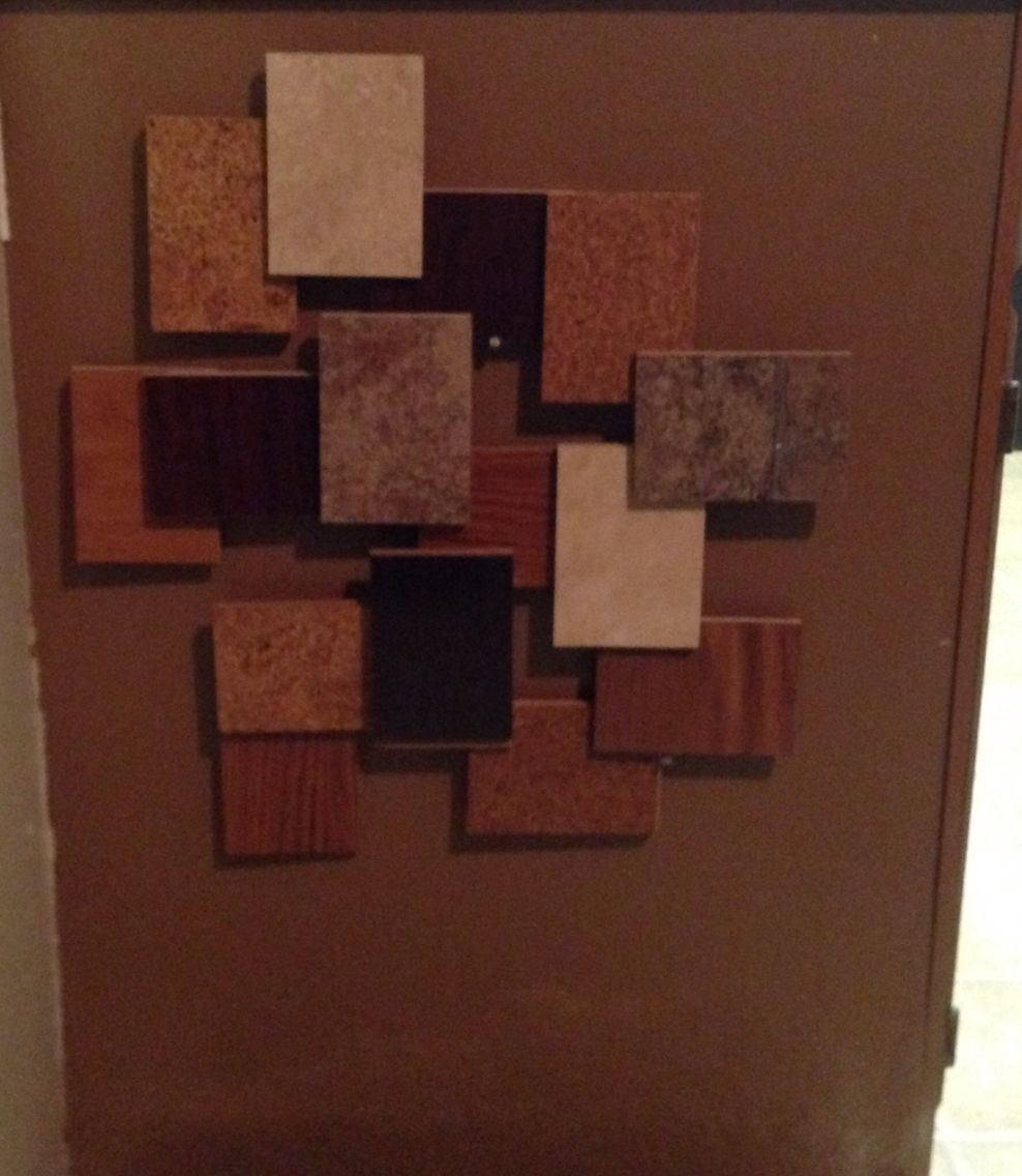 Wood Samples From Home Depot Made A Wall Art For 0 00 I It