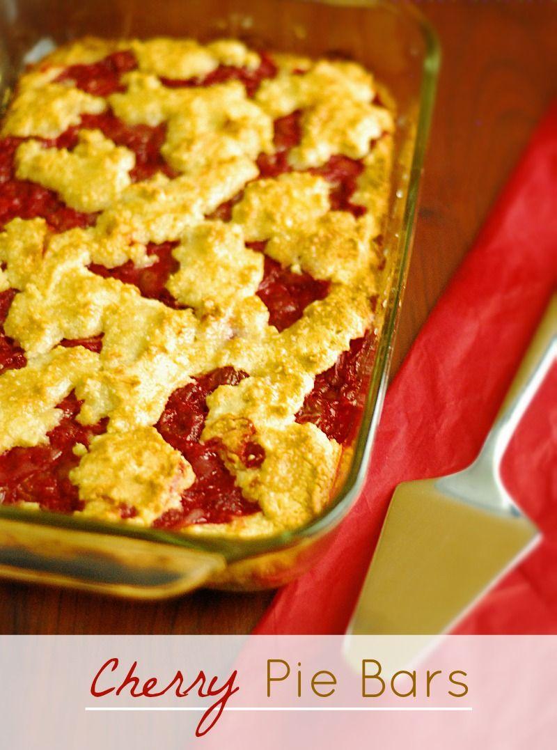 Cherry Pie Bars - Low Carb | Recipe | Low carb cherry pie ...