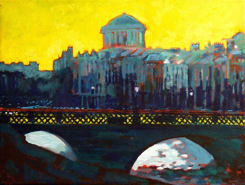 Eolaí gan Fhéile Grattan Bridge, Four Courts, Dublin