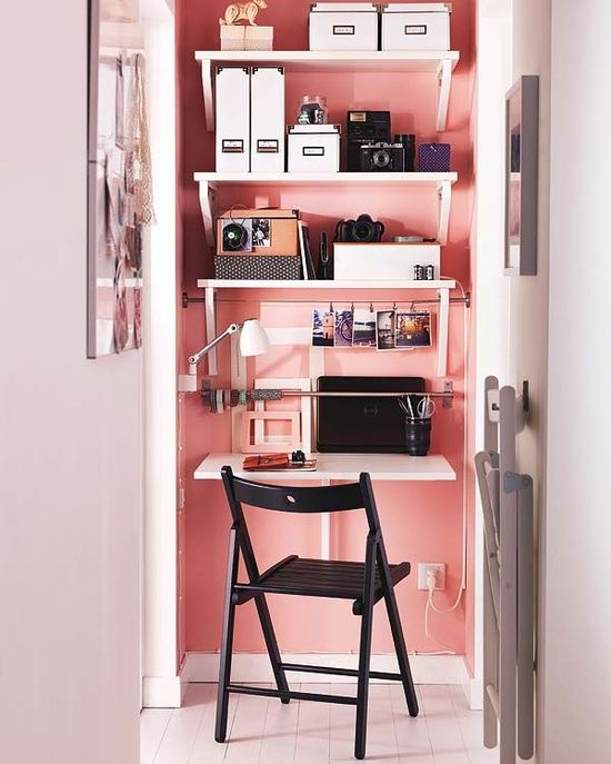 Maximize small office space. | Our Space | Pinterest | Small office ...