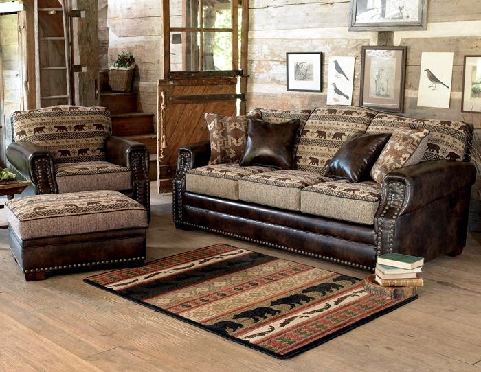 Nordic Bear Furniture Collection Furniture Rustic Living Room Western Living Rooms