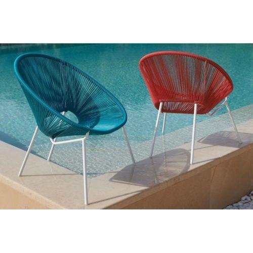 carrefour fauteuil de jardin a cordes
