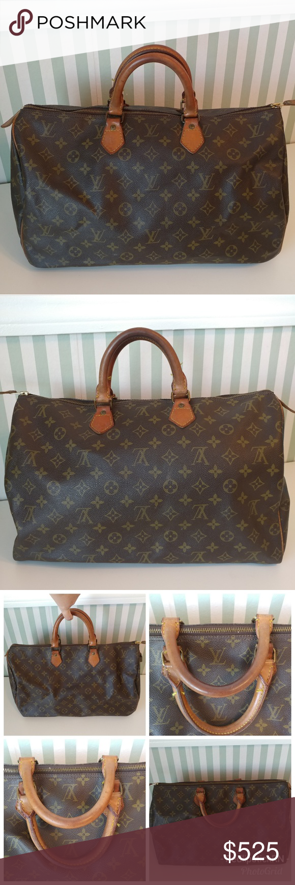 f94ef2e0b125 Authentic Louis Vuitton True Vintage Speedy 40 Bag This gorgeous authentic  Louis Vuitton Monogram Speedy 40