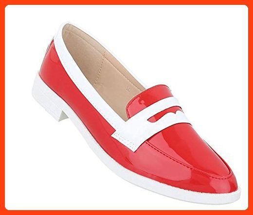 Damen Schuhe 13645 Halbschuhe Rot 36 | Schuhcity24 (*Partner