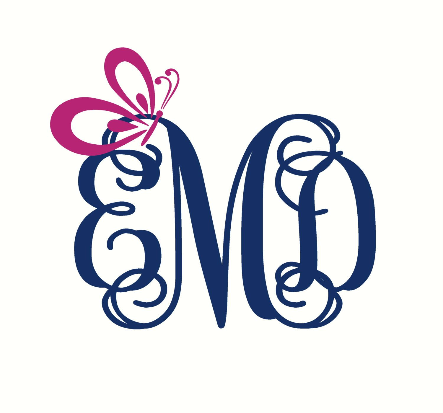 Monogram Car Decal Butterfly Car Decal Car Monogram Decal Car - Butterfly vinyl decals