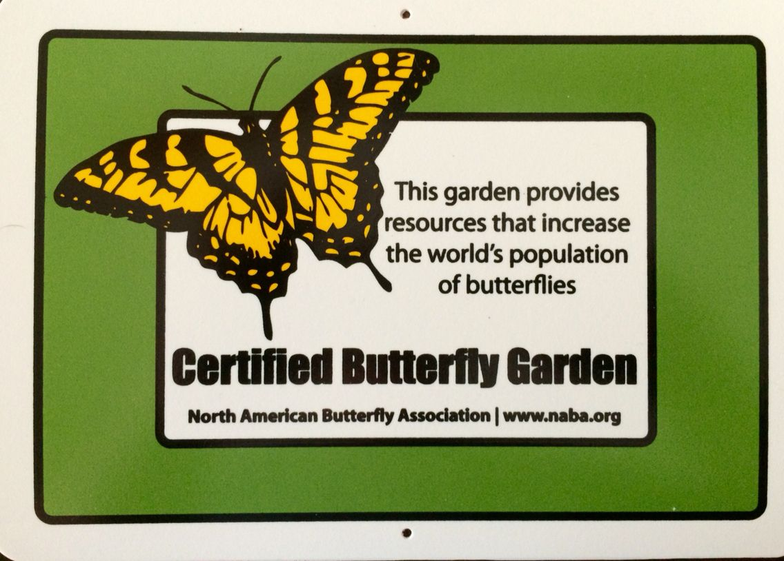 Genial Our Butterly Garden Was Certified By The North American Butterfly  Association. We Received A Full