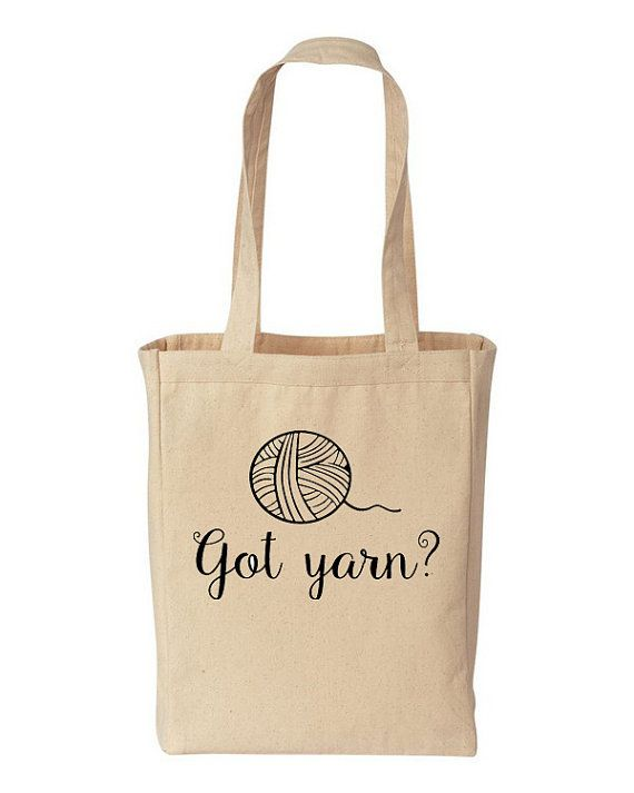 Got Yarn Natural Cotton Canvas Tote Bag  by MinglewoodTrading