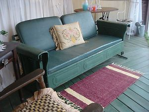 Vintage Glider Cushions 1940 S Antique Art Deco Metal Sofa W Orig In