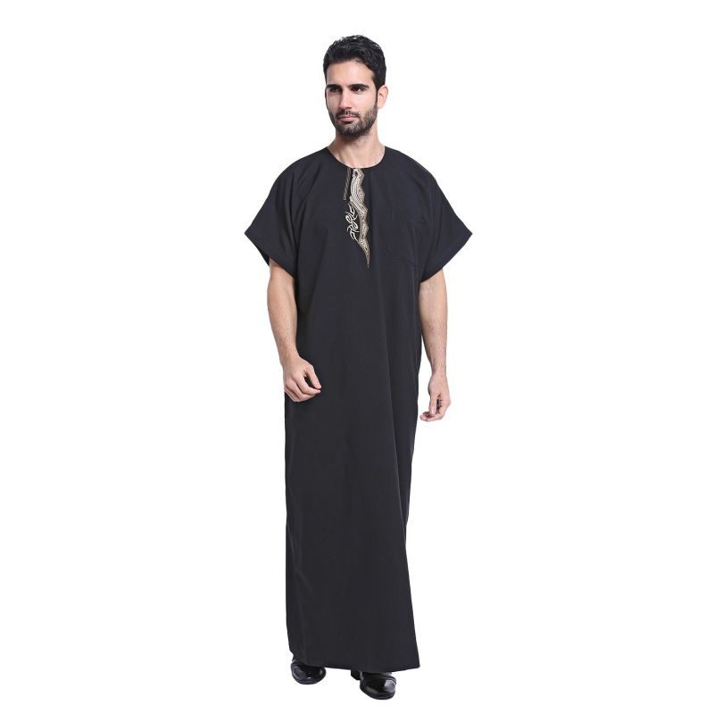 Arab Kaftan Saudi Thobe Thoub Abaya Robe Daffah Dishdasha Muslim Clothing  For Men 3cc57998d