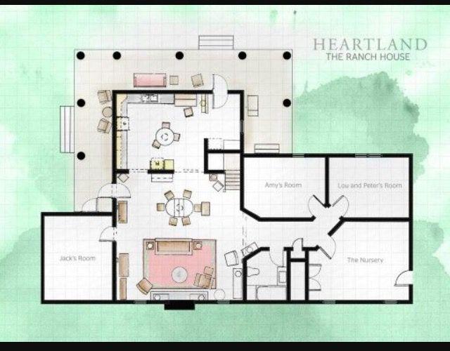 pin by kaylynn robb on house plans heartland ranch heartland house rh pinterest com TV Clip Art for House Plans Floor Plans From TV Shows