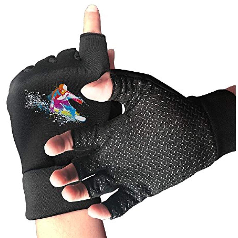 Huayaa Unisex Fingerless Gloves Skateboarding Sports Semi Half Finger Mittens For Cycling Climbing Fitness Comput Fingerless Climbing Workout Fingerless Gloves