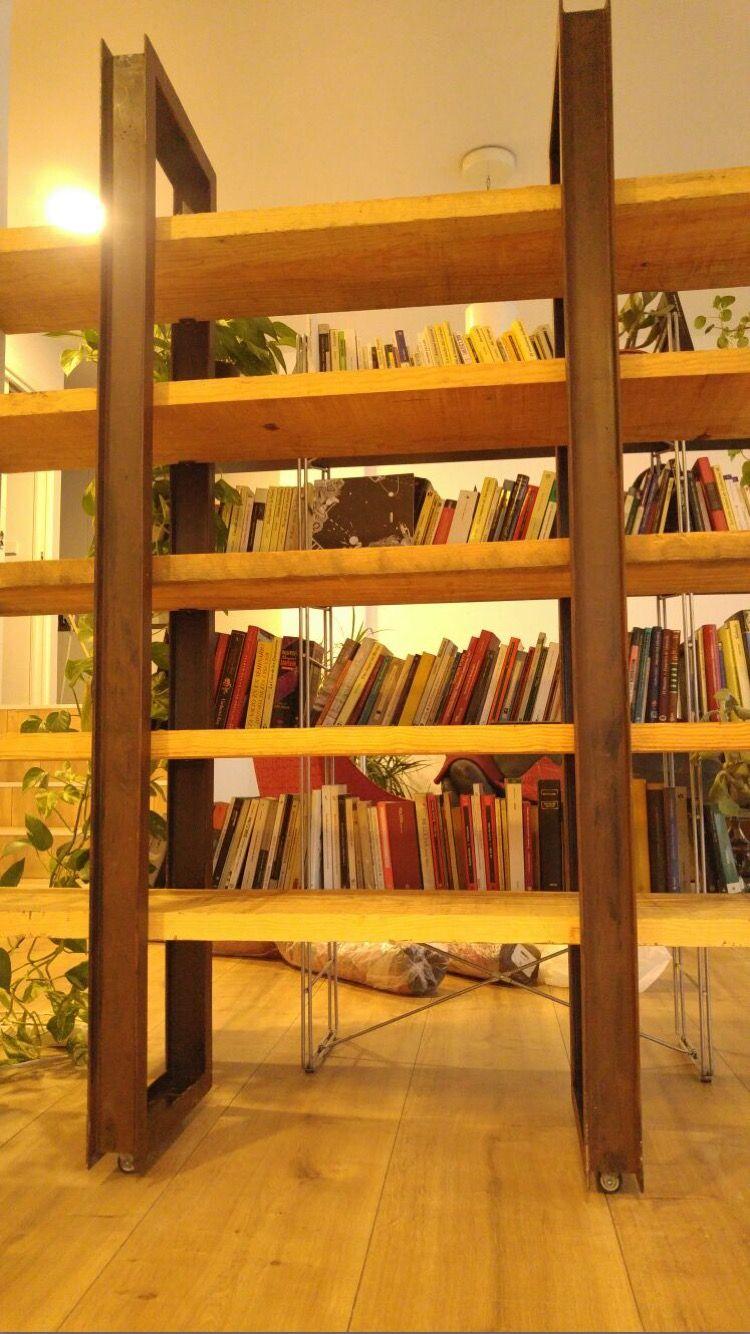 Librer A Estilo Industrial Acero Y Madera Maciza Vendida En  # Muebles Fijos Especificaciones