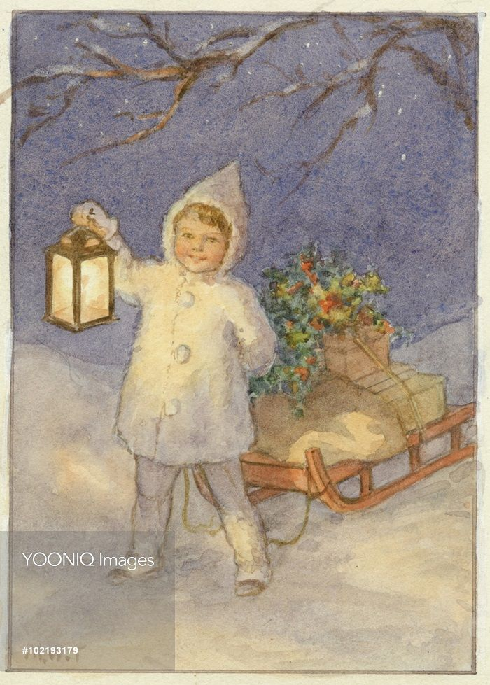 'Christmas Mail' Christmas Card.. Margaret Tarrant