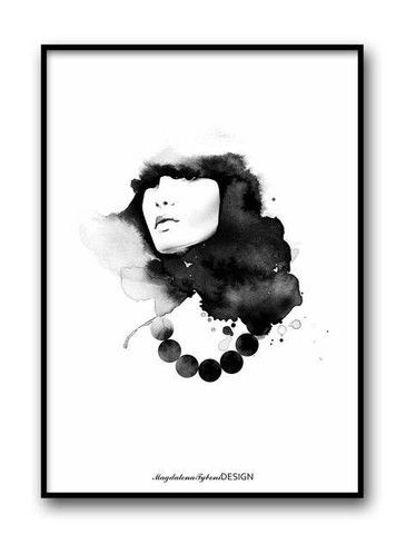 Magdalena Tyboni - Lady with Pearls Print (50x70cm)