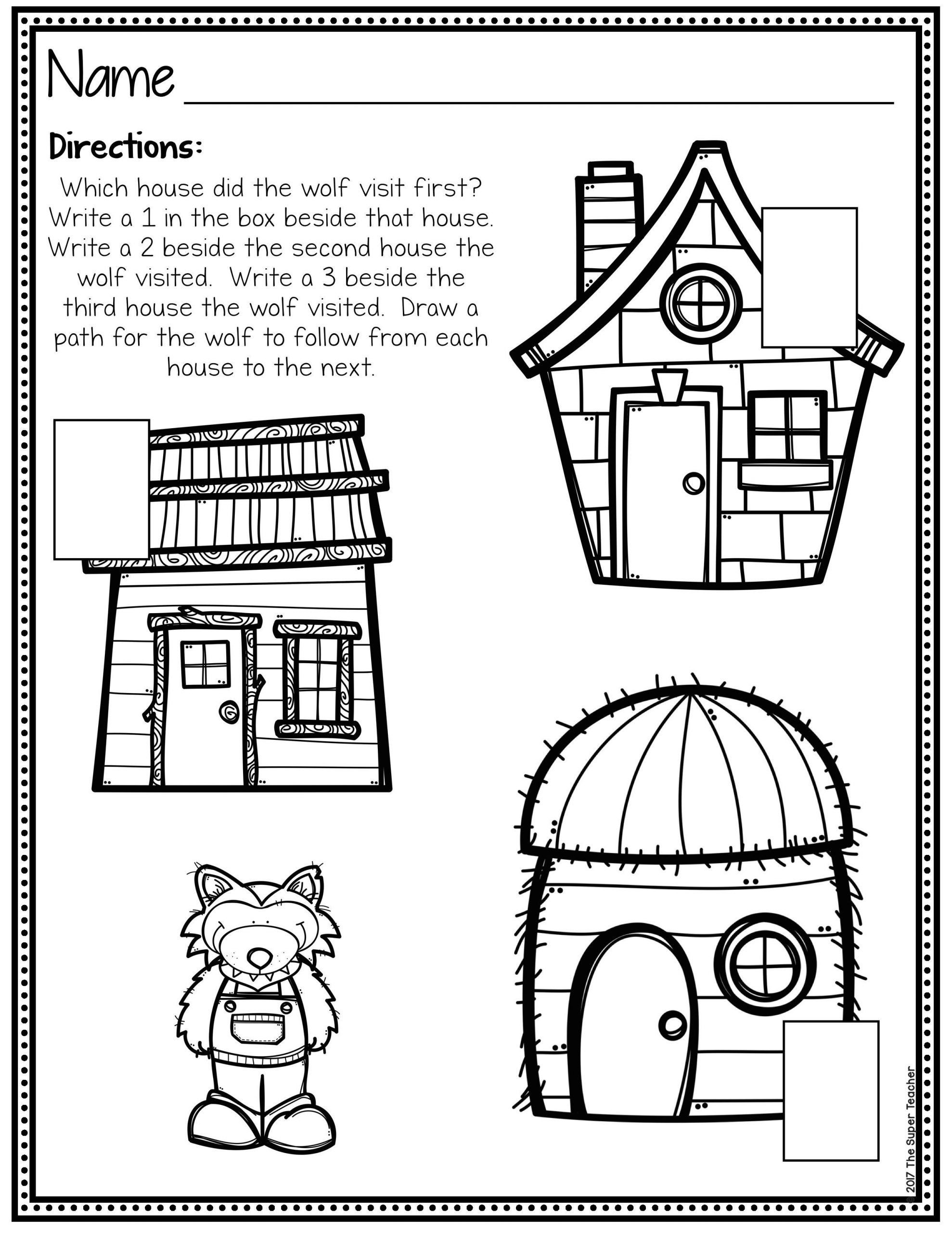 3 Little Pigs Coloring Page Story Elements Made Practical