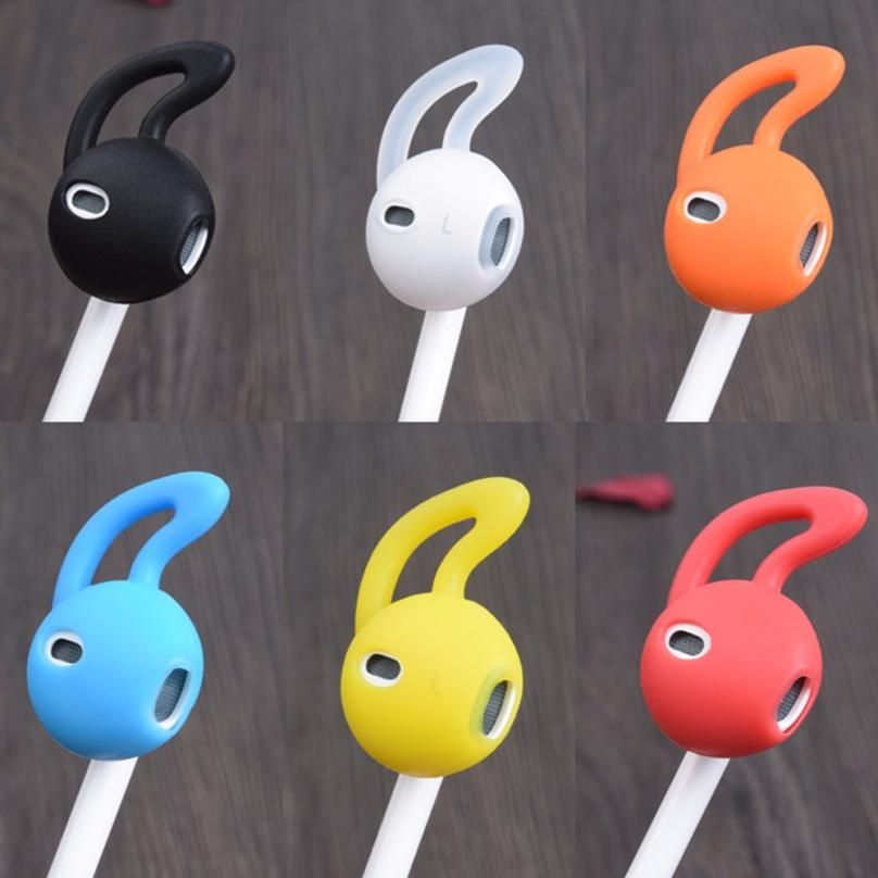 Click To Buy Earphone Cover Tips Hook For Airpods For Earpod Anti Slip Soft Silicone Sleeve Case For Iphone Earpho Soft Silicone Earbuds Iphone Earphones