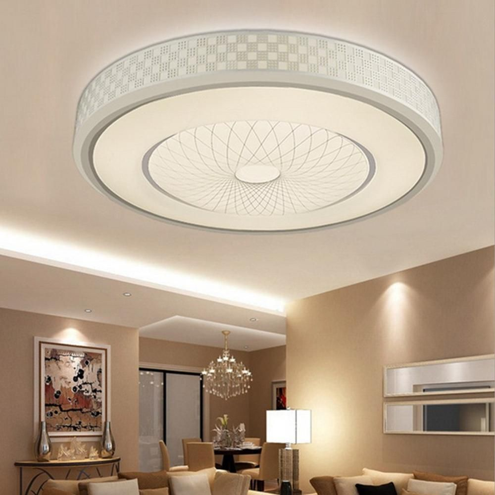 12w 24 Led Bright Round Ceiling Down Light Modern Luxury Flush