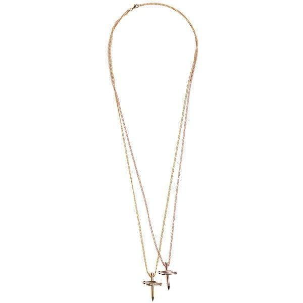 double nail crucifix - Metallic Dsquared2 ozL0Yt