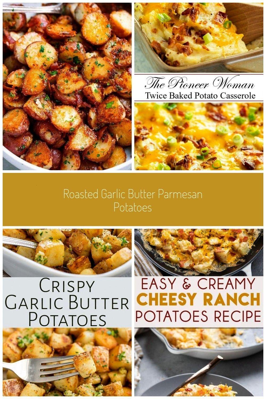 Garlic Butter Parmesan Potatoes - These epic roasted potatoes with garlic butter parmesan are perfe