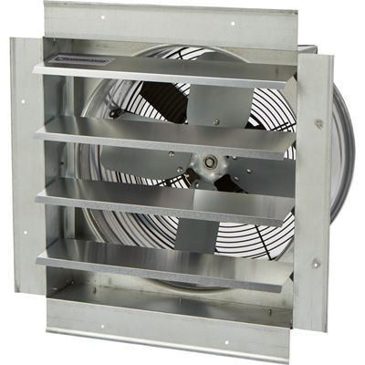 Strongway Heavy Duty Fully Enclosed Direct Drive Shutter Exhaust Fan 14in 1 400 Cfm 120 Volts 4 Blades In 2020 Exhaust Fan Locker Storage Shutters Exterior