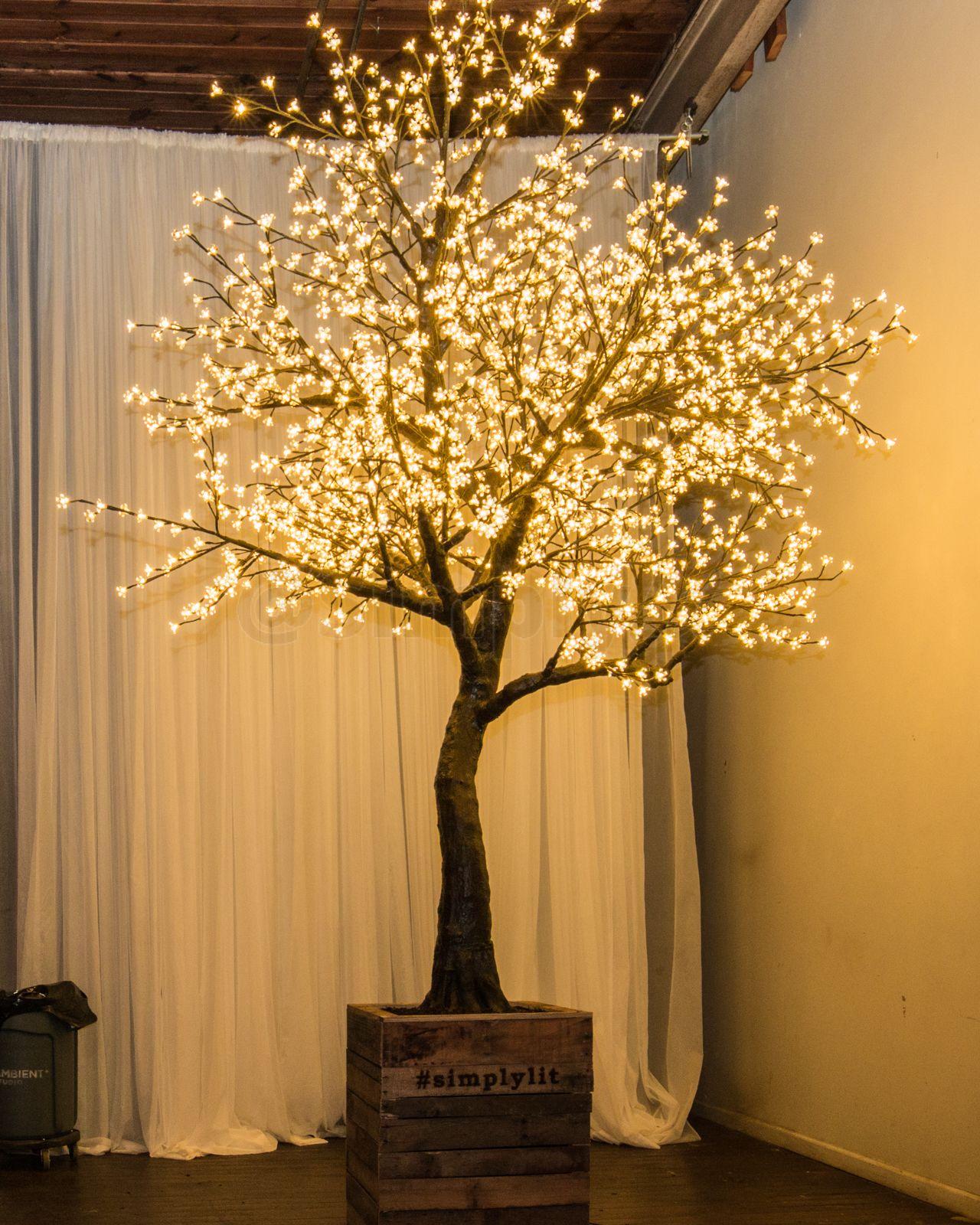 Led Tree At The Big Fake Wedding Artificial Cherry Blossom Tree Blossom Trees Cherry Blossom Tree