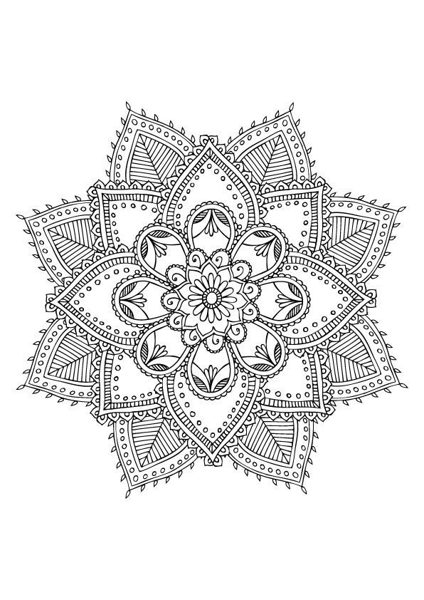Coloriage mandala anti stress 05 mandala coloriage adulte via dessin de - Dessin anti stress mandala ...