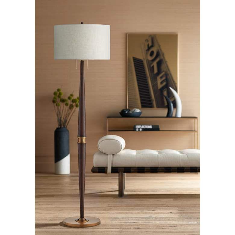 Currey And Company Colee Dark Mahogany Floor Lamp 67j34 Lamps Plus Mahogany Flooring