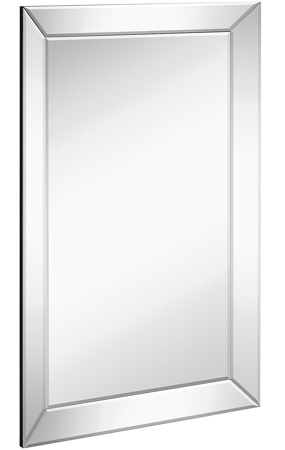 Large Framed Wall Mirror With Angled Beveled Mirror Frame Premium Silver Backed Glass Panel Vani Beveled Mirror Bathroom Frames On Wall Mirror Wall