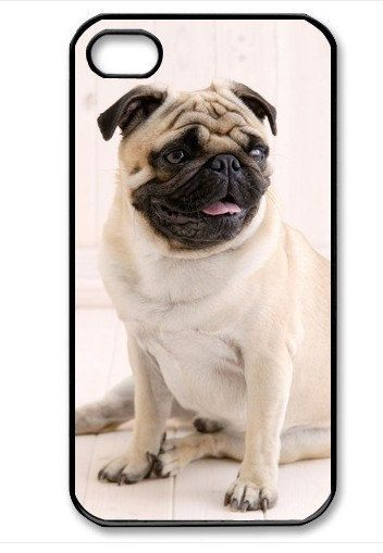 iPhone 4 case iPhone 4s case - Pug Puppy Dog iPhone Hard Case-graphic Iphone case