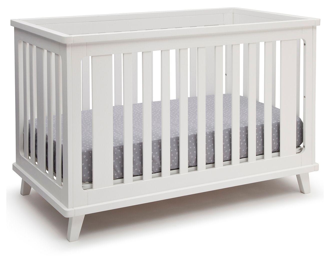 Delta Children Ava 3 In 1 Convertible Crib White In 2020 Delta