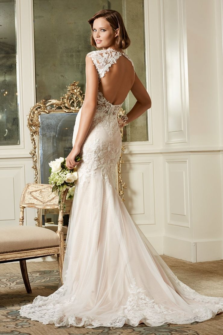 Julienne splendidly beaded this english net and lace fit and