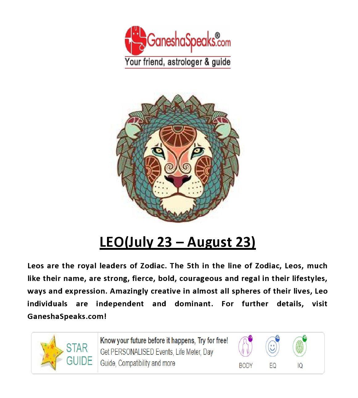 leo astrology ganesha speaks