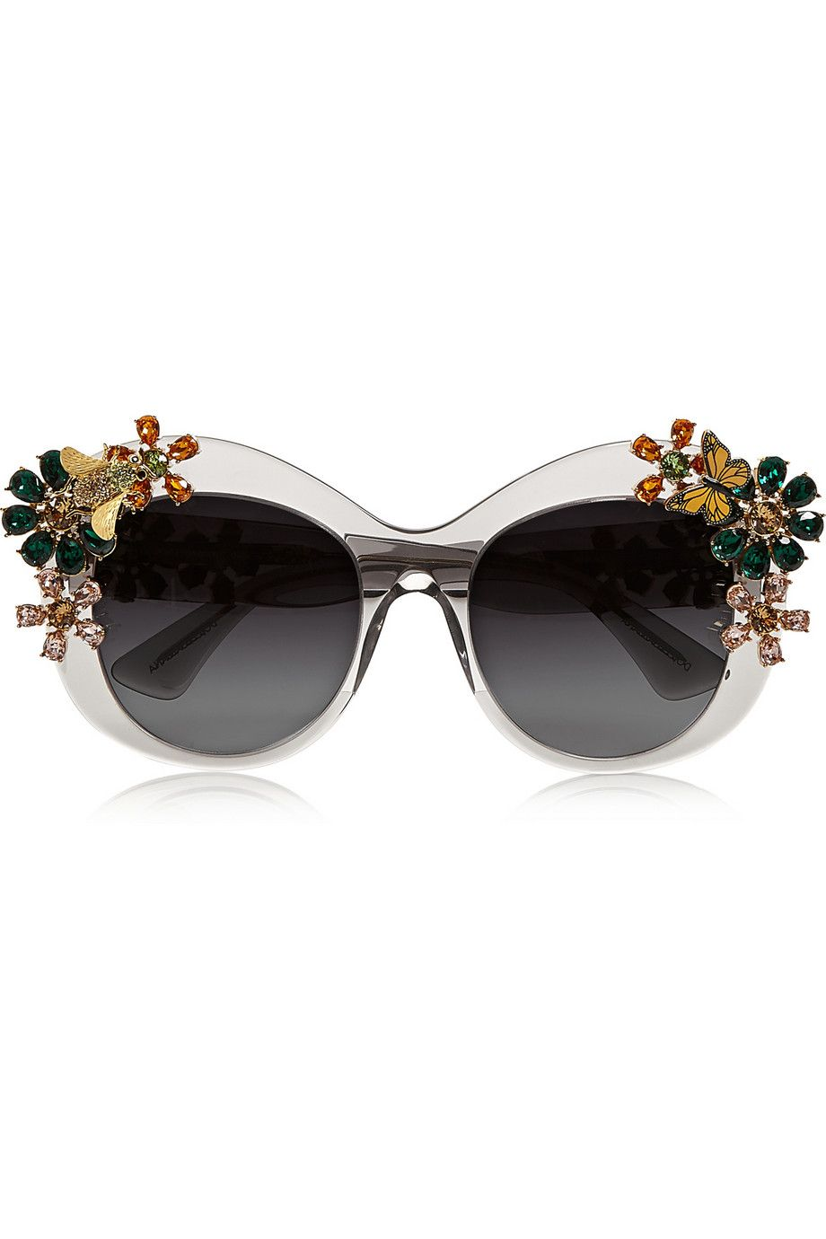 Dolce & Gabbana Eyewear Swarovski embellished sunglasses Clearance Very Cheap Clearance Wiki Discount Enjoy Get Authentic Buy Cheap Limited Edition 0e6YucaOo