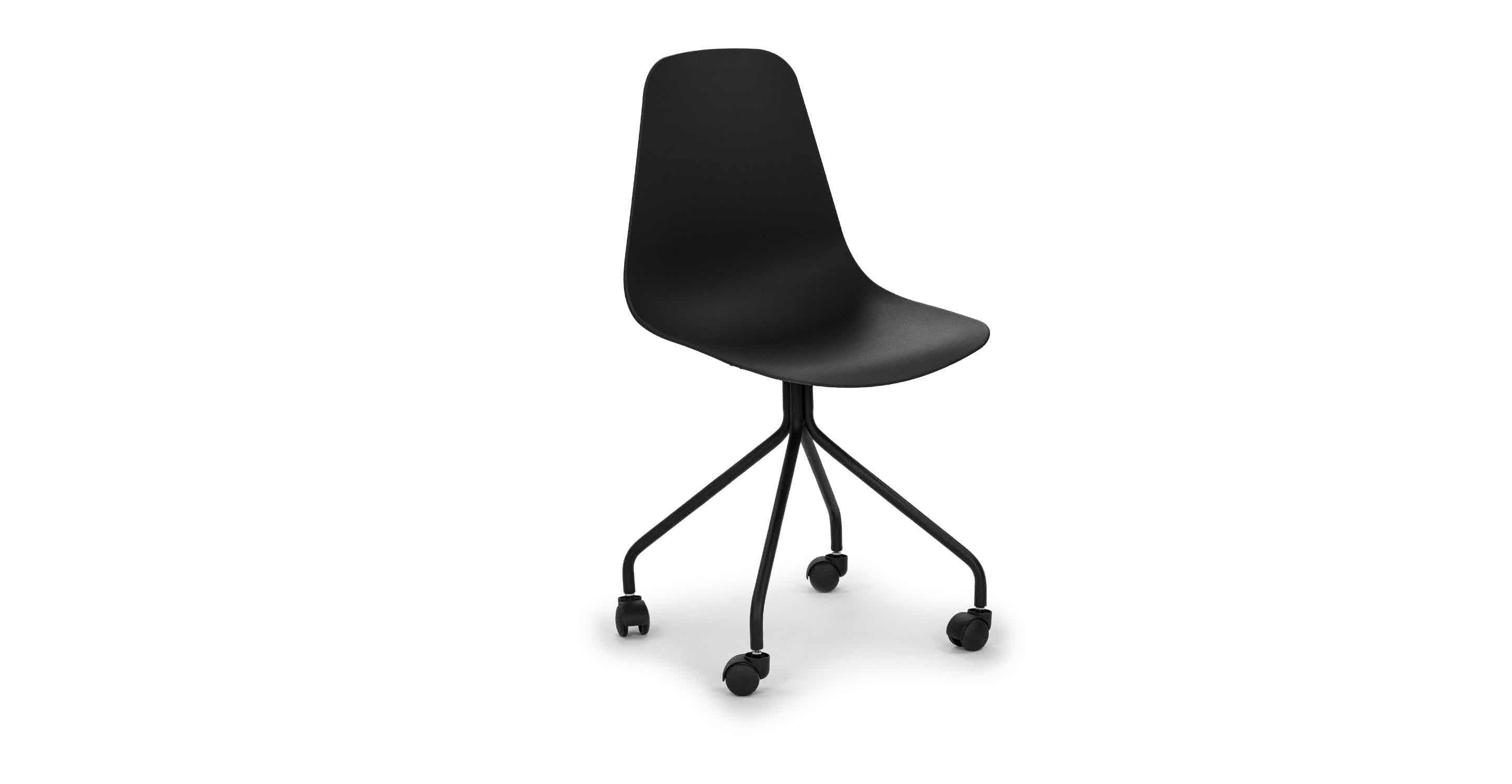 Svelti Pure Black Office Chair With Images Black Office Chair Modern Office Chair Contemporary Office Chairs