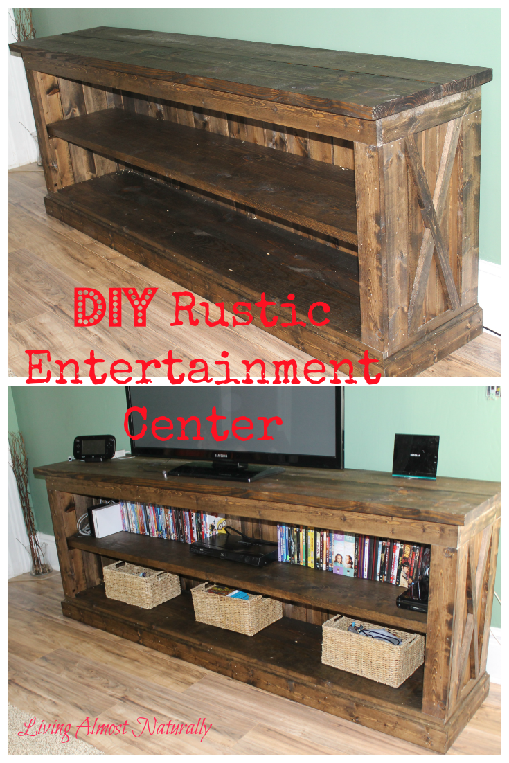 Do It Yourself Furniture: DIY Rustic Entertainment Center. Easy To Make