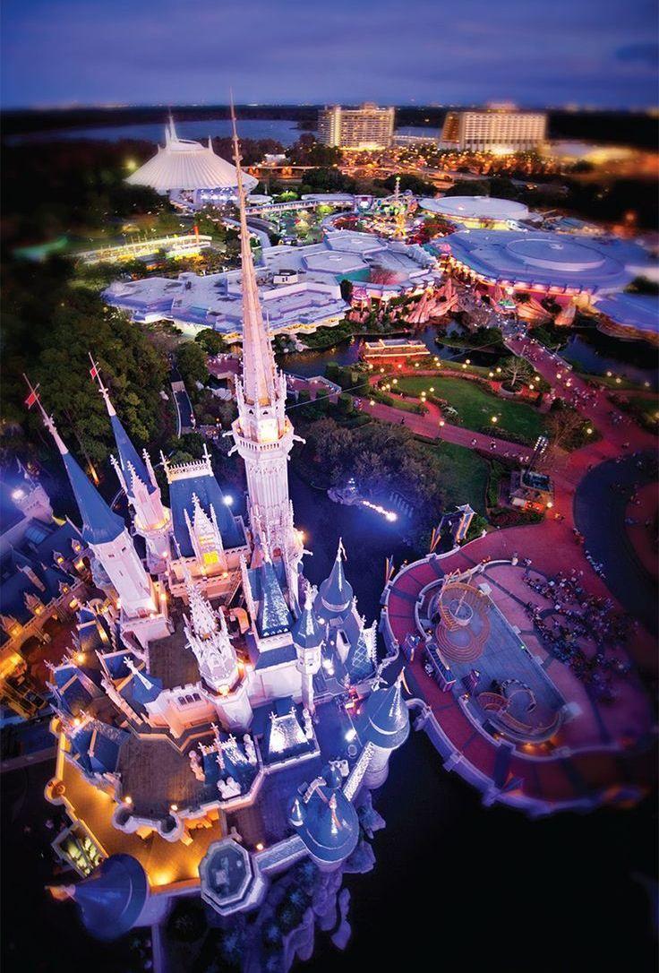 Aerial View Of Cinderella Castle At The Magic Kingdom