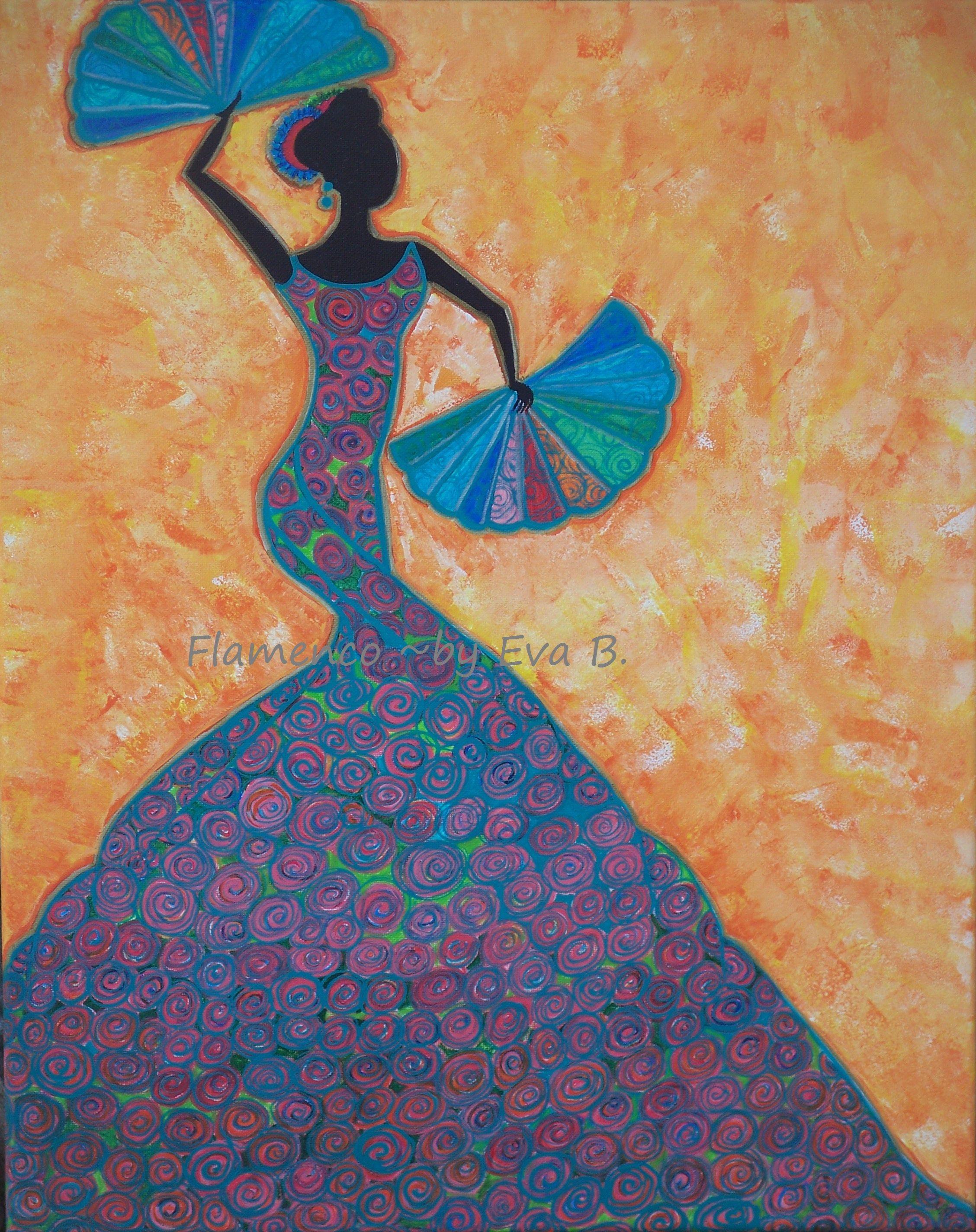 Flamenco Dancer Painting Woman Dancing Art Silhouette Art Etsy In 2020 Dancer Painting Silhouette Painting Flamenco Dancers