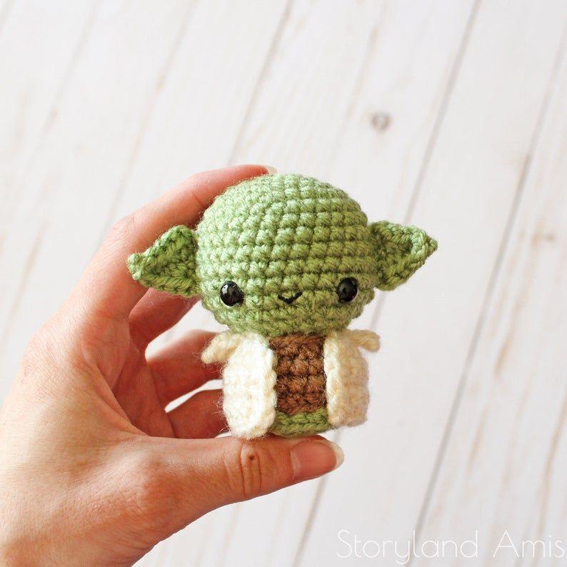 PATTERN: Baby Alien Amigurumi, Crocheted Little Green Guy, Toy Tutorial, PDF Crochet Pattern