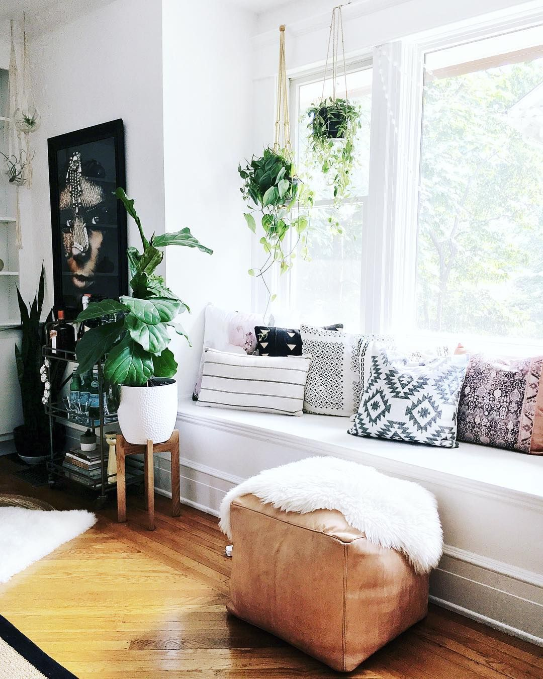 Boho Chic Window Seat Window Seat Nook Window Seat Bay Window Benches