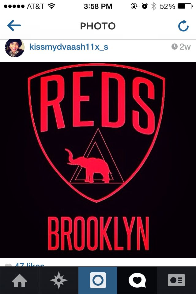 I can't wait to post this picture when I cross. Reds  Brooklyn