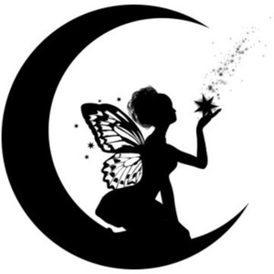 Catch a falling star tattoo fairy silhouette art tats for Fairy cut out template