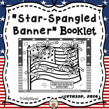 Star Spangled Banner Booklet Coloring More Star Spangled