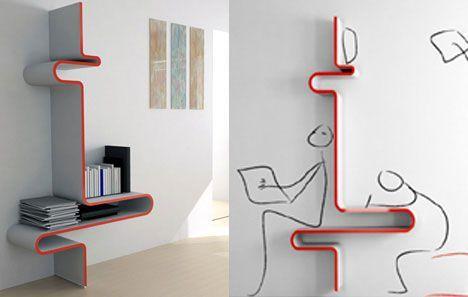 Multi-functional shelf design by Yoon-Zee Kim