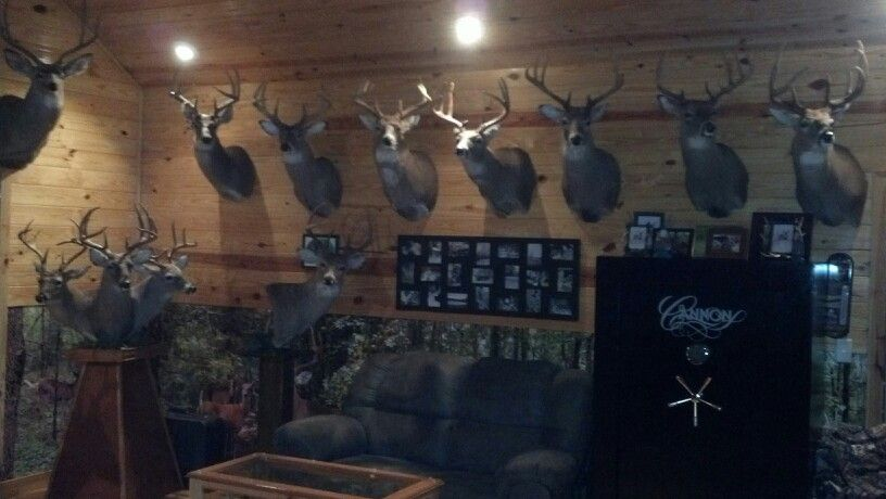 More Of Our Trophy Room Trophy Rooms Hunting Room Hunting Man Cave