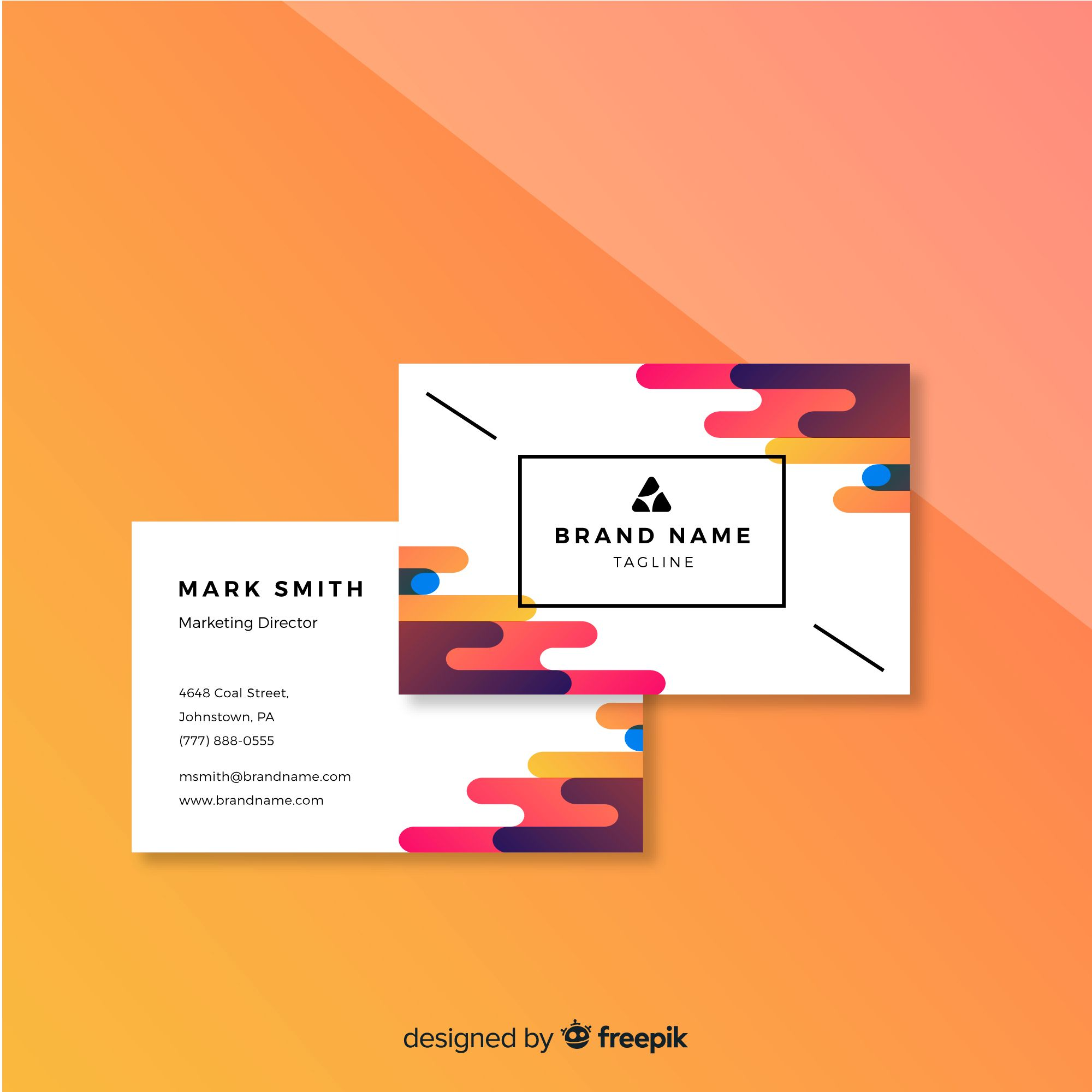Carte De Visite Abstract Business Card Name Cards Templates Vector Free Geometric