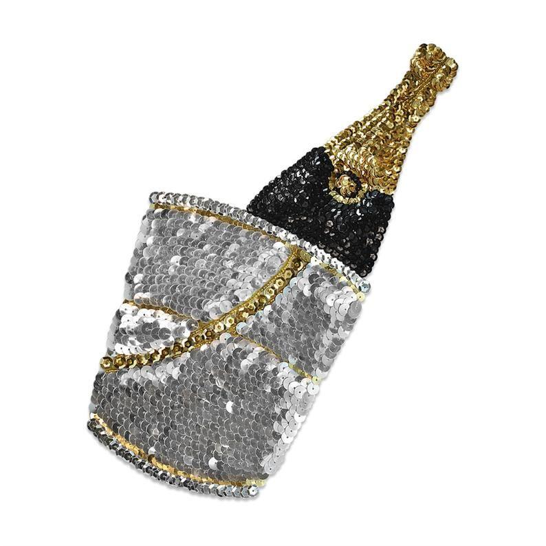 Expo Champagne In Bucket Sequin Applique | Etsy