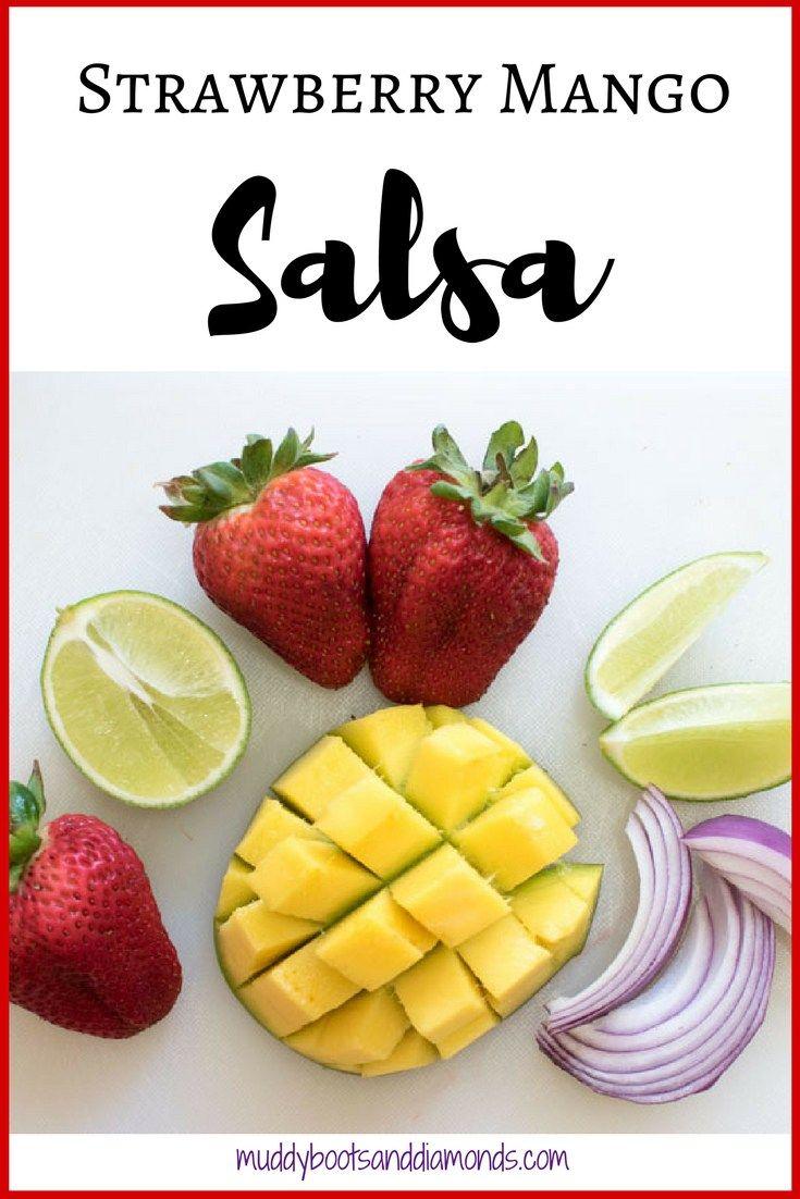 Strawberry Mango Salsa Strawberry Mango Salsa - perfect for summer BBQs and picnics! via